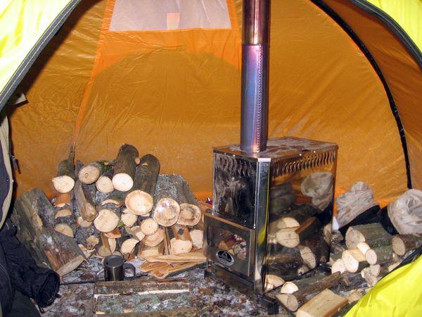 Палатка зимняя с печкой своими руками 3