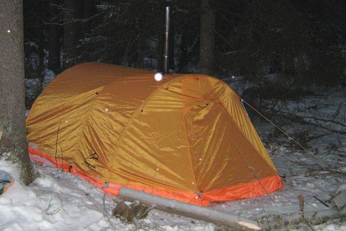 Как сделать тепло в палатке видео